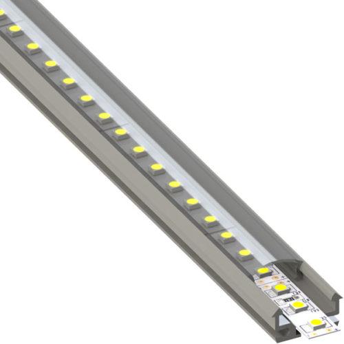 ALU profil 18 x 9 mm za izdelavo LED linij