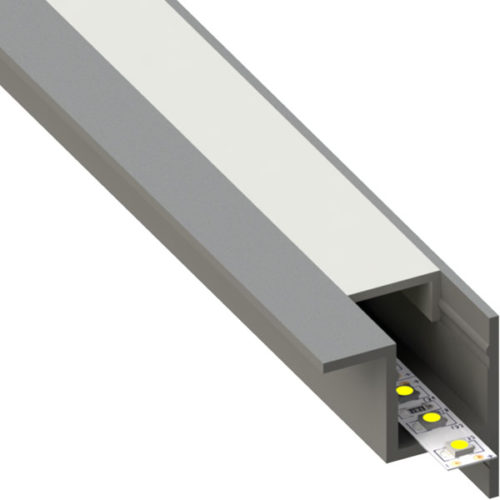 ALU profil BAR8, 28,4 × 30 mm