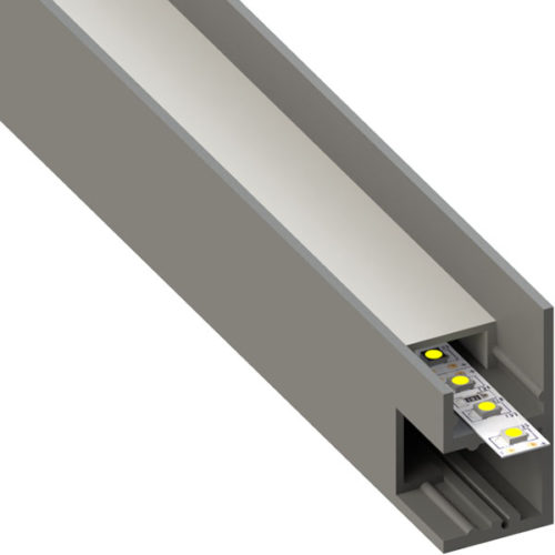 ALU profil BAR12, 18,4 × 37,3 mm
