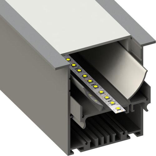 ALU profil BAR23, 80 × 75 mm
